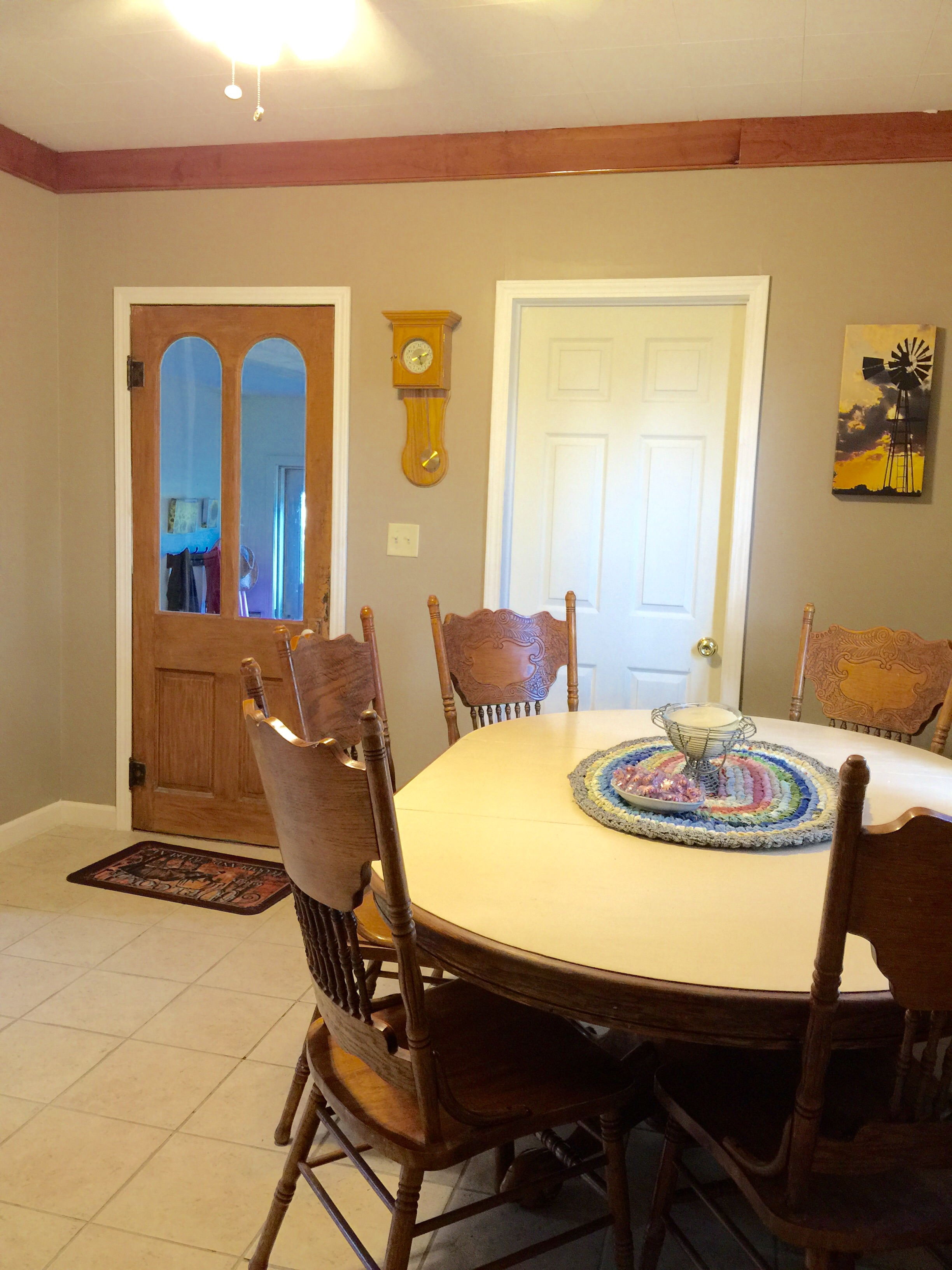 Dining Room Is repainted and good for now … – Owl\'s Corner Cabin ...